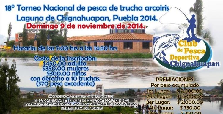 18° Torneo de Pesca Nacional de Trucha Arcoiris,Chignahuapan, Puebla