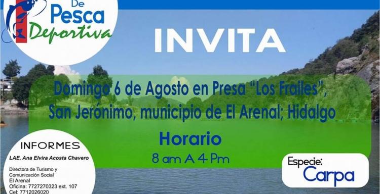 1er Torneo de Pesca Deportiva de Carpa, Los Frailes, El Arenal, Hidalgo