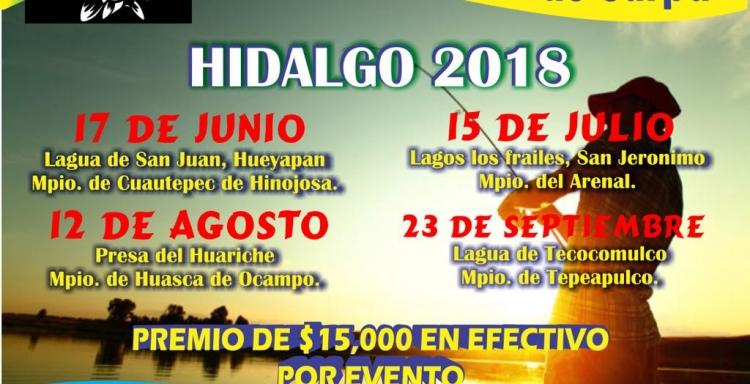 CIRCUITO DE PESCA DE CARPA, HIDALGO 2018