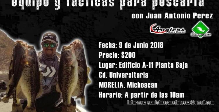 Curso de Pesca Aprendiendo a pescar la lobina equipo y tácticas, Michoacán