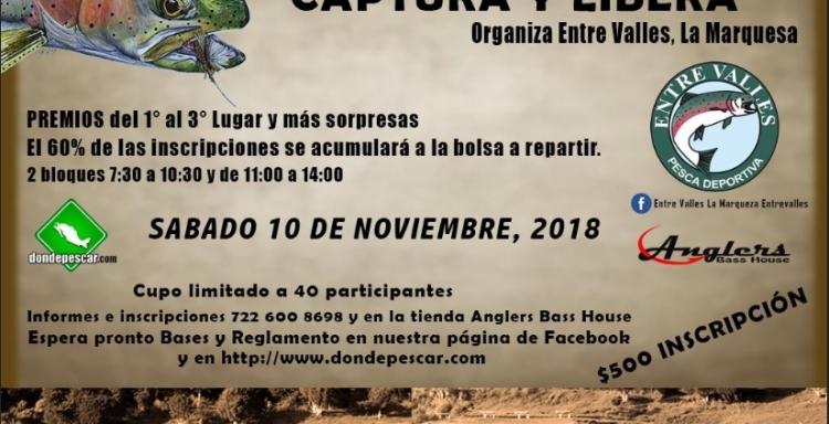 Gran Torneo de Fly Fishing, Entre Valles 2018, 10 de noviembre.