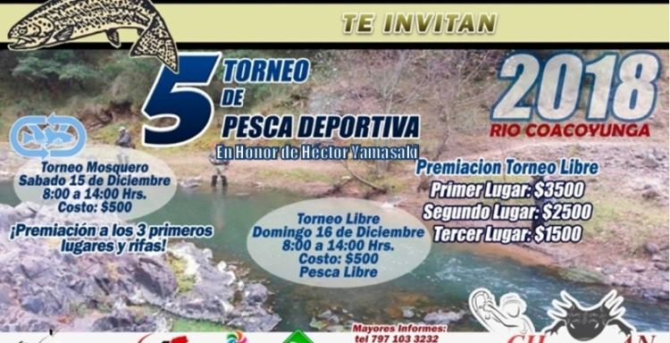 5°TORNEO EN RIO Coacoyunga, Chignahuapan, Puebla, En Honor de Héctor Yamasaki