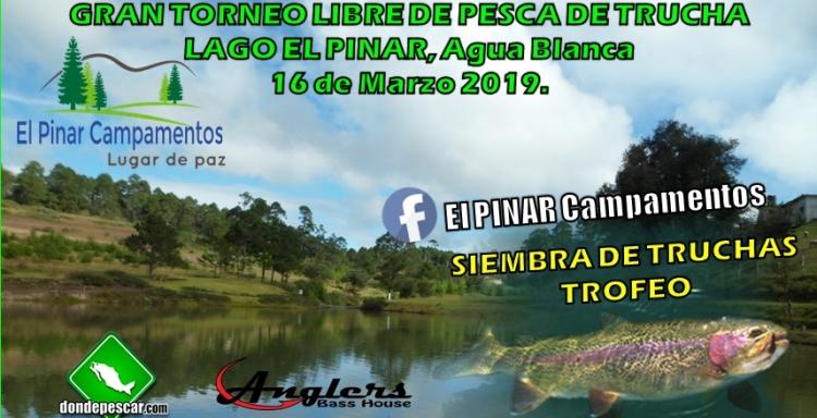 Torneo Abierto de Trucha Arcoiris Lago El Pinar, Agua Blanca Hidalgo