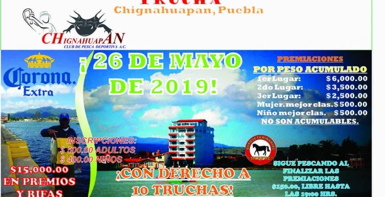 27° Torneo de Pesca Nacional de Trucha Arcoiris,Chignahuapan, Puebla