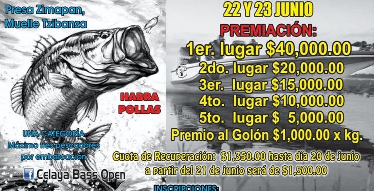 Torneo Celaya BASS OPEN, Presa Zimapan, 22, 23 junio