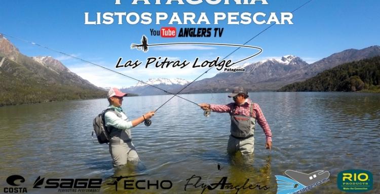 Gran aventura de pesca arribando a la Patagonia, con las Pitras Lodge