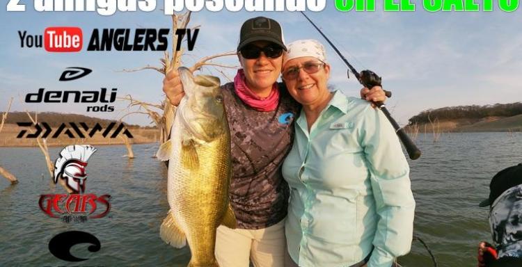 2 PESCADORAS, en El Salto, Yaisa Corrales y Paty Ramírez, ¡Buena Pesca!