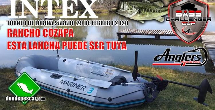 TORNEO INTEX, Bass Challenger, Rancho Cozapa 29 de febrero 2020.