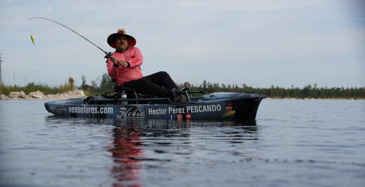 Héctor Perez Pescando, Ceo de VENSE Lures
