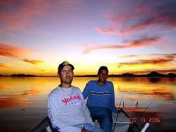 Pesca en la presa del Oviachic