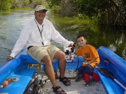 Un Robalo pescado en los esteros de Quintana Roo