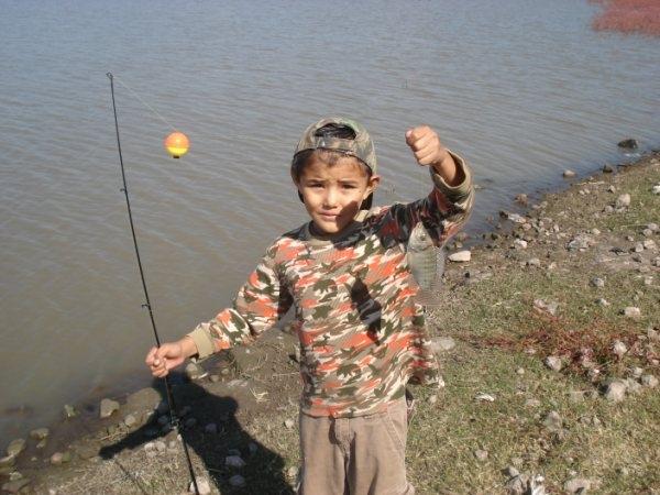 Pescando mojarra tilapia