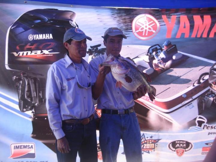 record lobina Zimapan presa Marco Trejo Serial bass 5.470 kgs