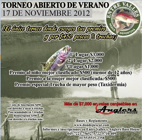 Torneo Abierto de Trucha Entre Valles