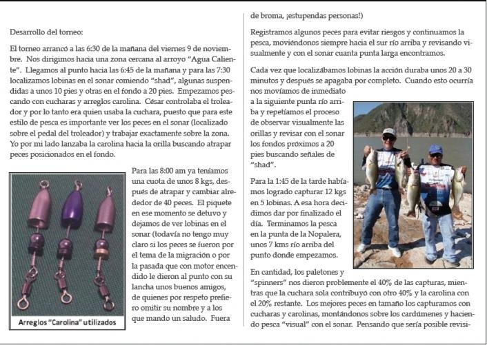 Cesar Madrigal lancha Donde Pescar universidad pesca lobina